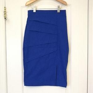 Suzy Shier Royal Blue Pencil Skirt XS